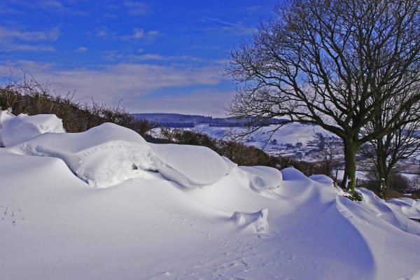 Snow Above Llanerchindda