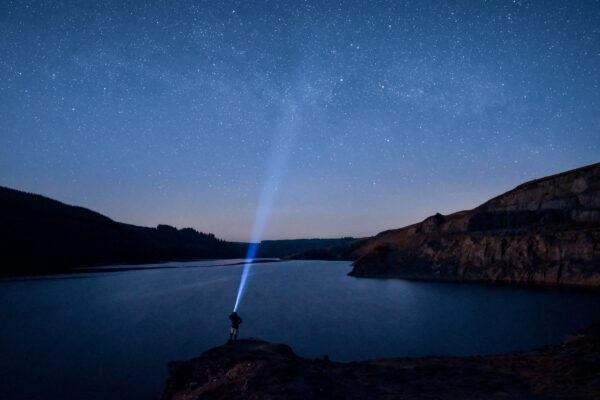 Stars at Llyn Brianne Reservoir